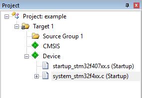 Изначальная структура проекта