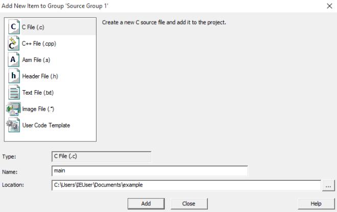 Создание файла main.c