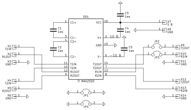 Схема. Приемопередатчик RS-232 (2016.04.19).png