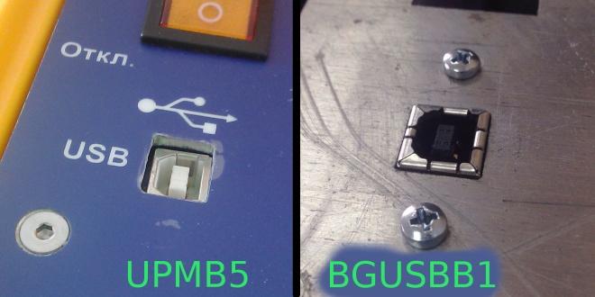 Гнездо USB типа B для крепления на панель или корпус