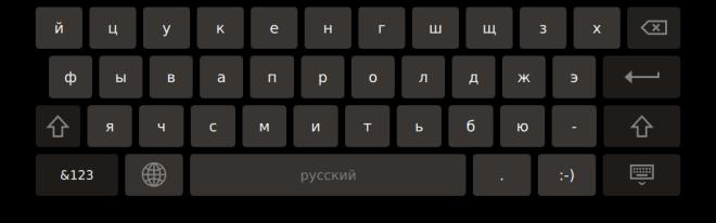 Qt Virtual Keyboard Русская раскладка